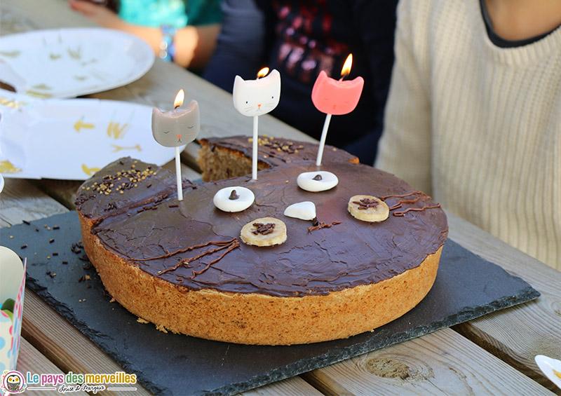 Gâteau d'anniversaire tête de chat