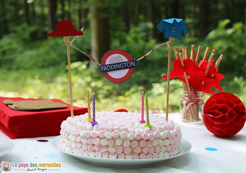 Gâteau d'anniversaire Paddington
