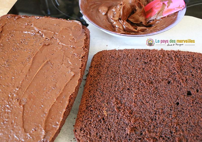 glacage chocolat et crème fraiche