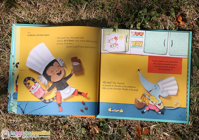 Livre-CD illustré avec un ouistiti et une souris