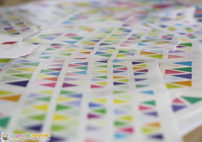 Gommettes géométriques colorées