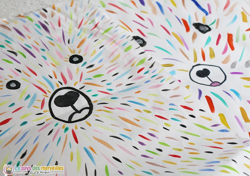 Activité créative ours peinture