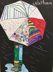 parapluie graphisme au feutre