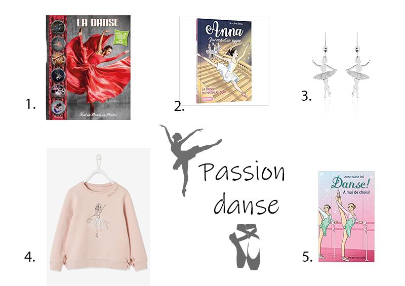 idées cadeaux de Noël passion danse