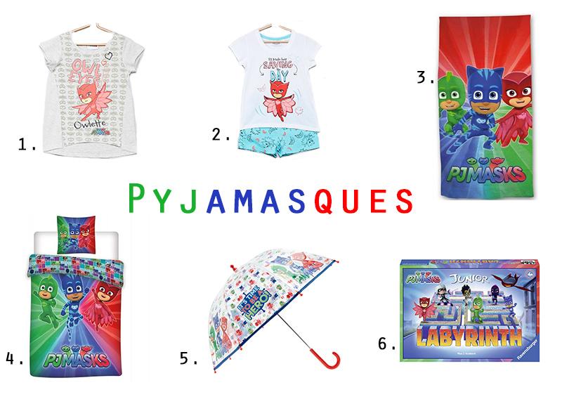 liste d'idées cadeaux sur le thème des pyjamasques