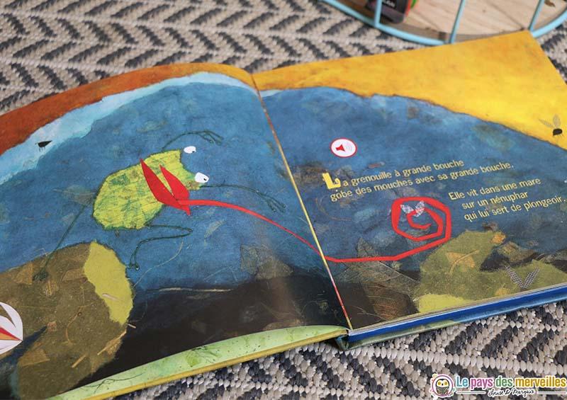 Illustration du livre la grenouille à grande bouche