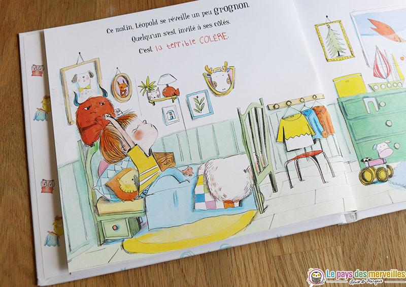 Illustrations de maurèen Poignonec dans le livre sur la colère