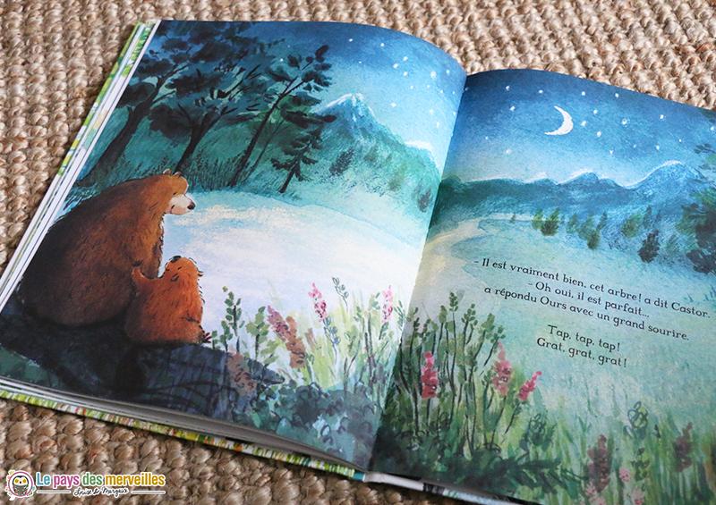 Amitié entre un ours et un castor