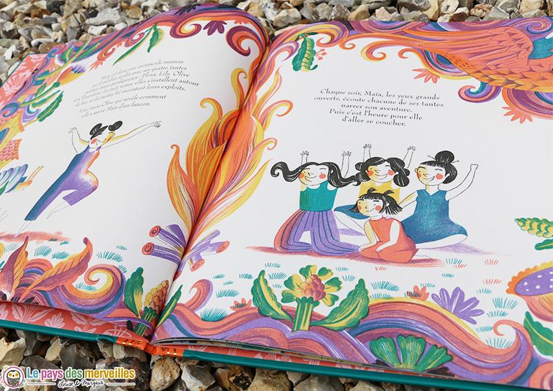 Illustration colorée du livre La prodigieuse Maïa
