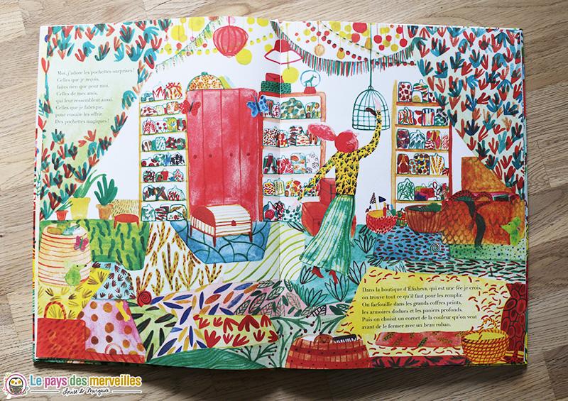 Illustration colorée de l'album Les pochettes surprises