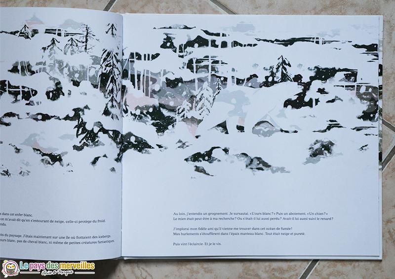 Blanc une histoire dans la montagne illustrations