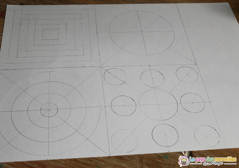 Formes géométriques images contrastées