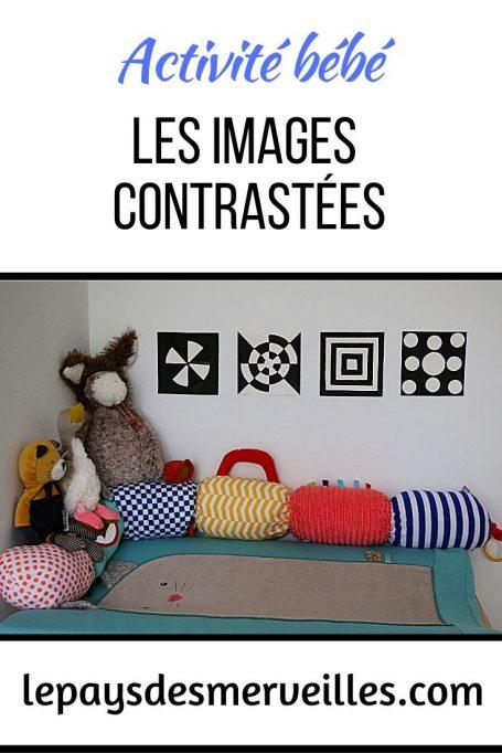 Images contrastées en noir et blanc pour bébé