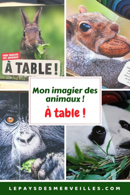 Mon imagier des animaux : À table !