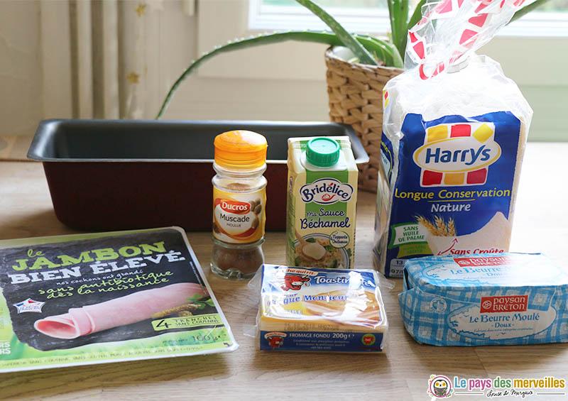 Ingrédients pour faire un croque-cake