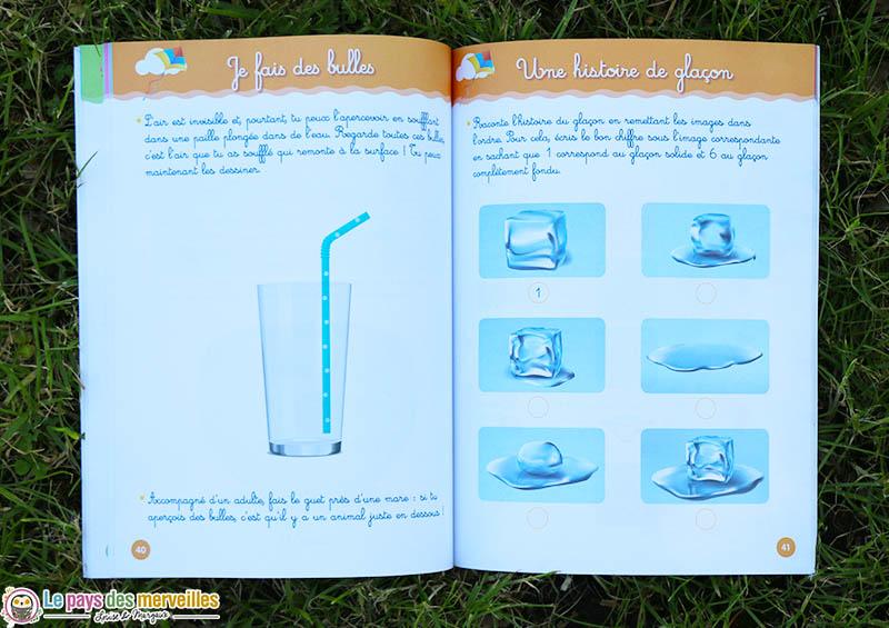 Expérience Montessori avec de l'eau