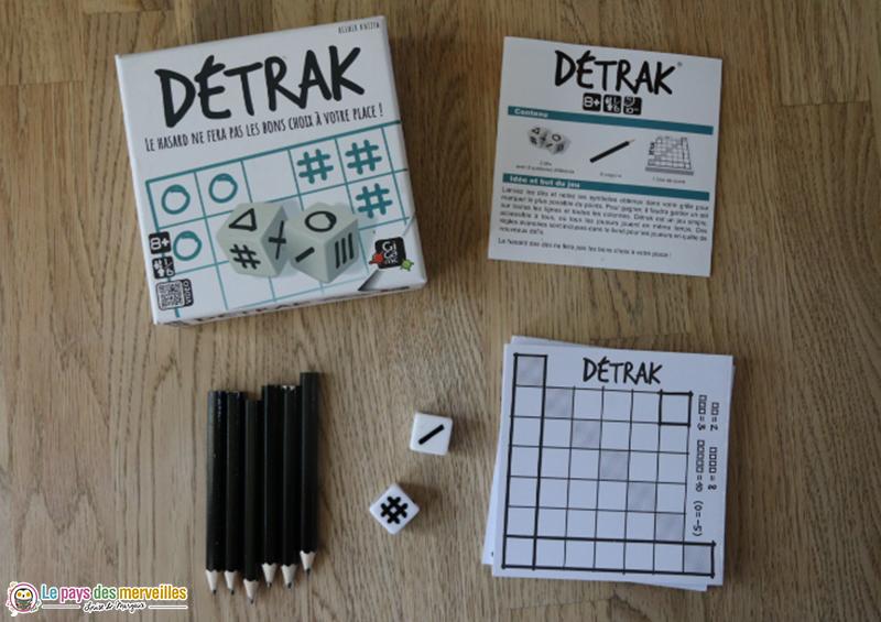 Contenu de la boite de jeu Détrak de Gigamic