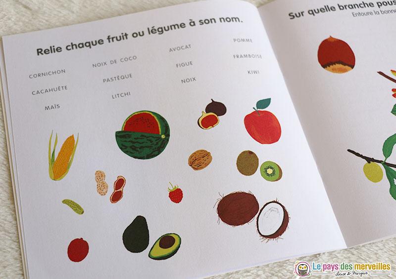 Jeu sur le thème des fruits et légumes