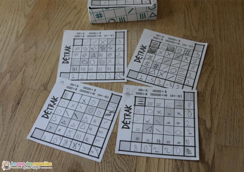 jeu facile de roll'n write