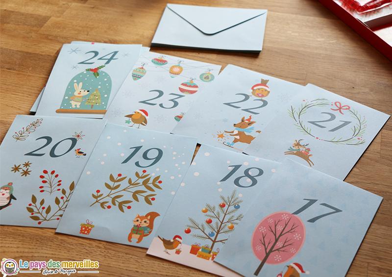 Enveloppes sur le thème de Noël