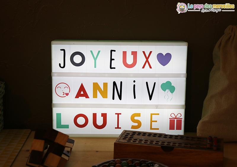 lightbox joyeux anniversaire