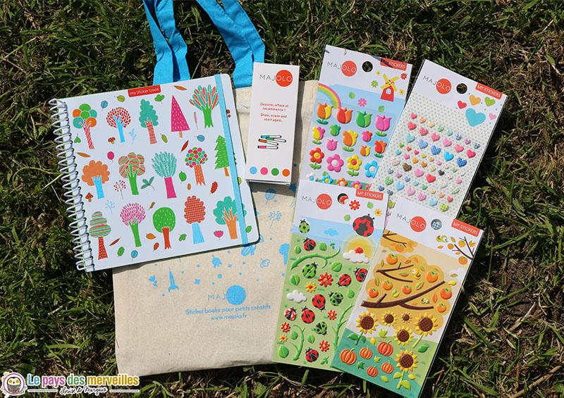 sticker book et autocollants pour enfants créatifs