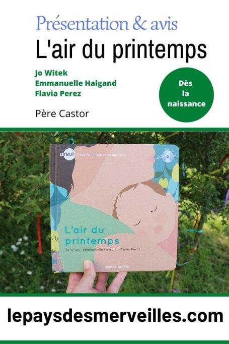 Avis sur le livre pour bébé L'air du printemps