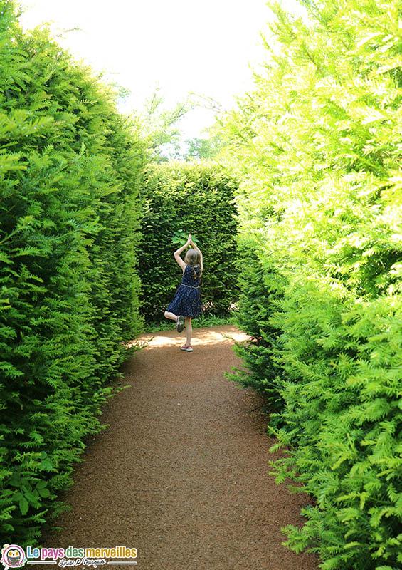 allée du labyrinthe de Thoiry
