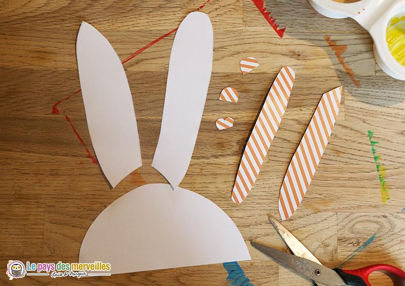découpage et collage lapin de Pâques