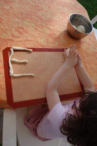 Alphabet en pâte à sel