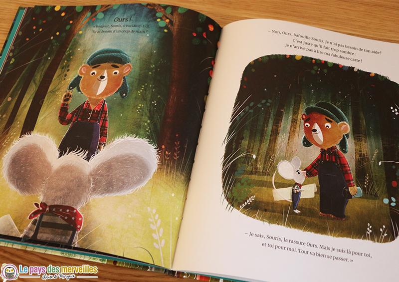 histoire d'amitié entre un ours et une souris
