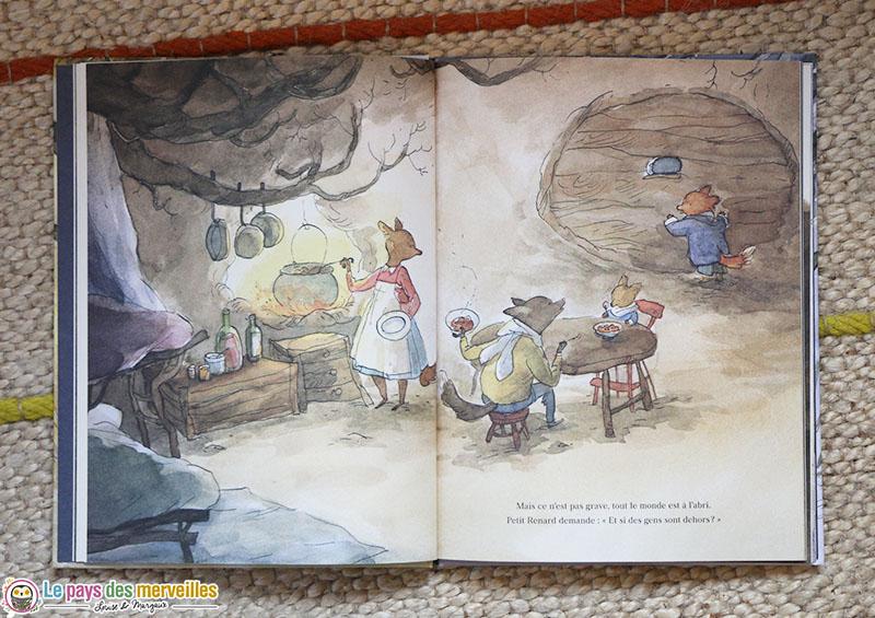L'abri, une histoire pour enfants avec des animaux
