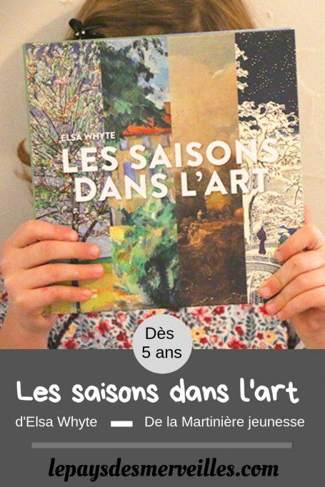 Livre pour enfant Les saisons dans l'art