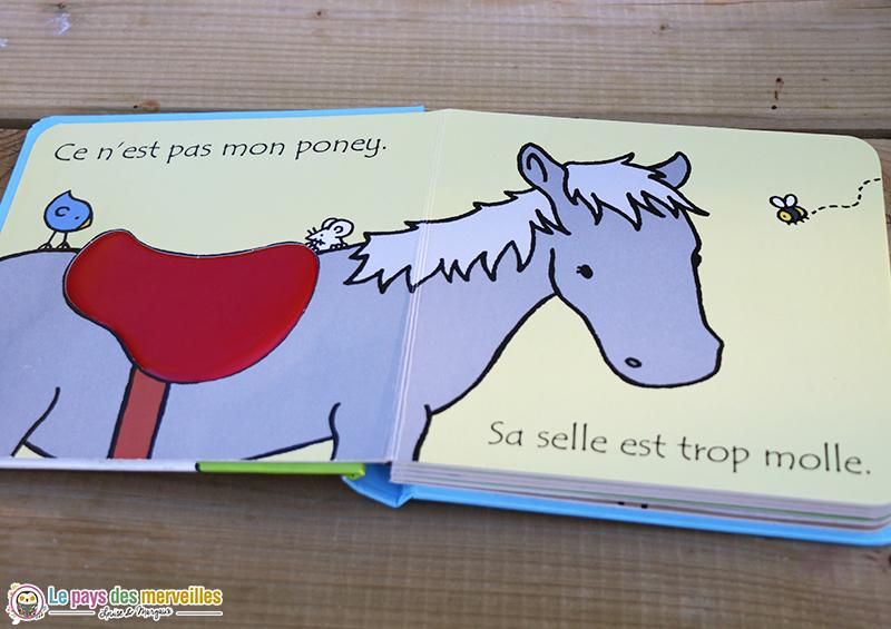 Livre à toucher poney cheval