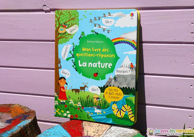 Mon livres des questions réponses sur le thème de la nature