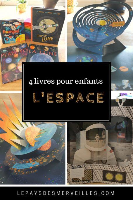 Livres pour enfants sur le thème de l'espace