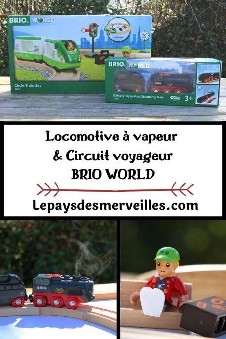 Locomotive à vapeur et circuit voyageur BRIO WORLD
