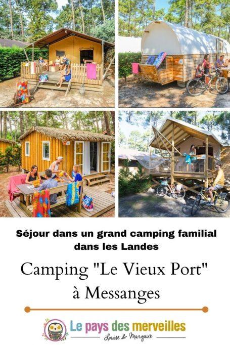 Camping familial Le Vieux Port situé à Messanges dans les Landes