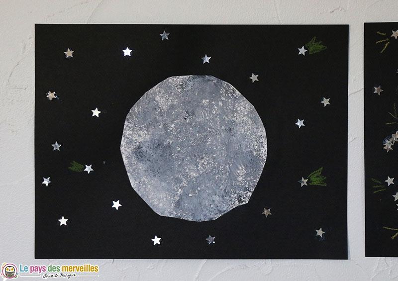 Pleine Lune et étoiles