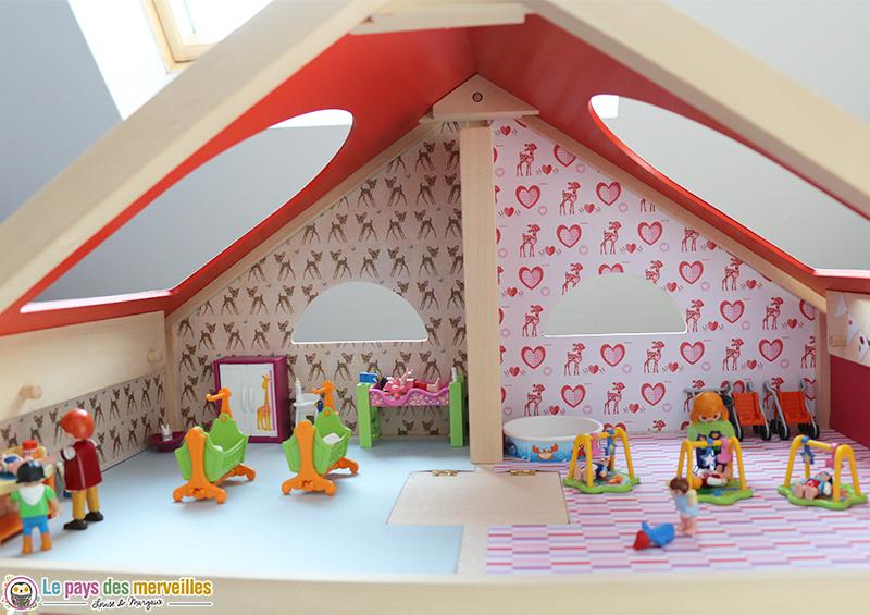 Decoration maison en bois pour Playmobil