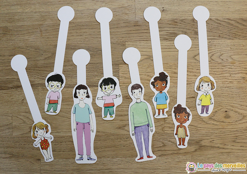 Marionnettes en papier personnages