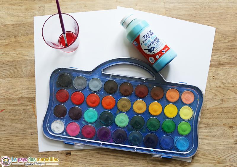 Materiel peinture drawing gum