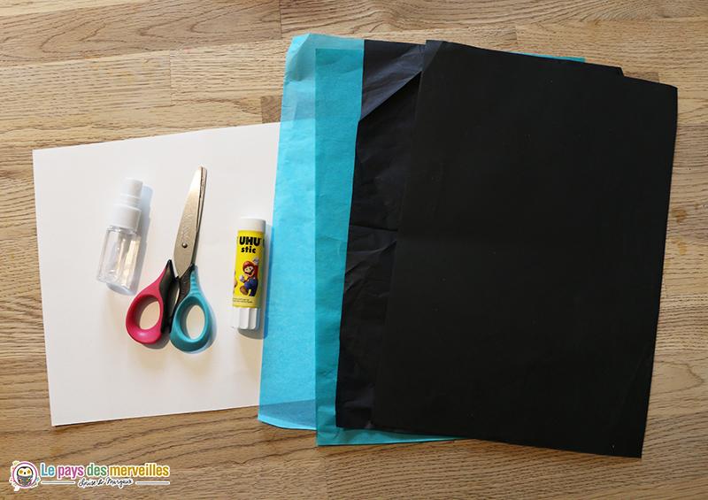 Activité manuelle avec du papier de soie