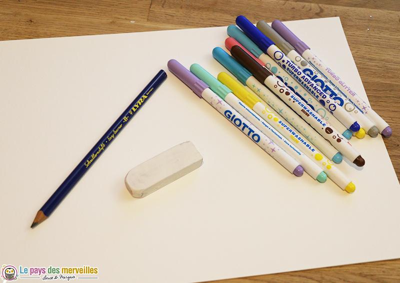 Matériel pour dessiner des montagnes graphiques