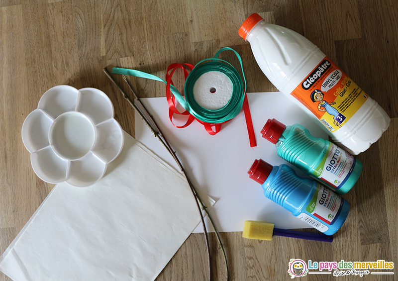 matériel pour créer un brin de muguet porte bonheur