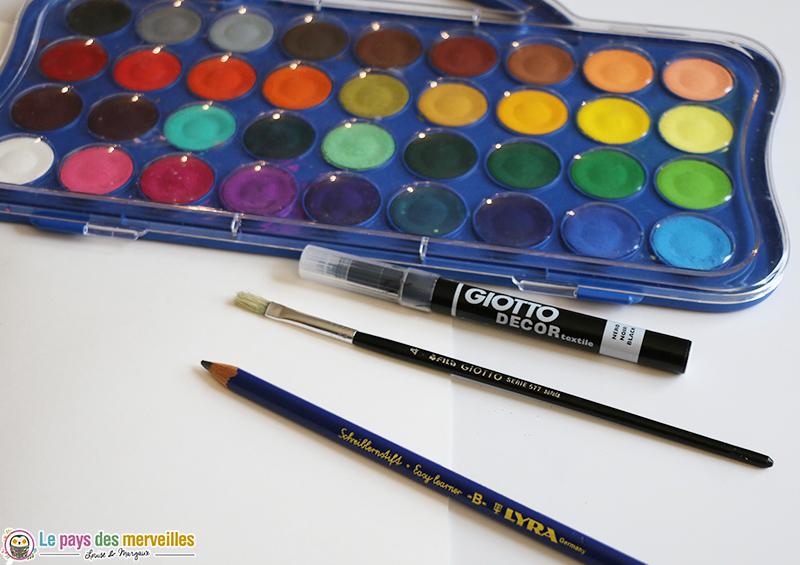 Materiel de peinture à l'eau