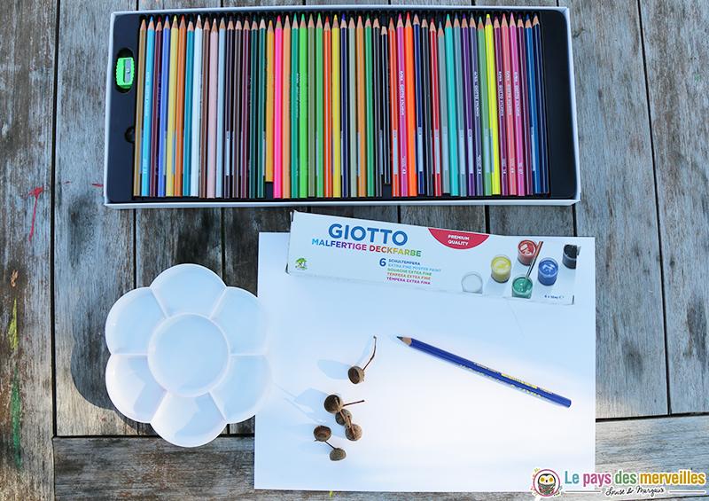 matériel de création de la marque Giotto