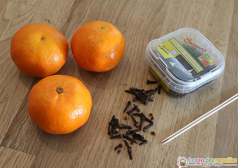 Matériel pour faire une pomme d'ambre