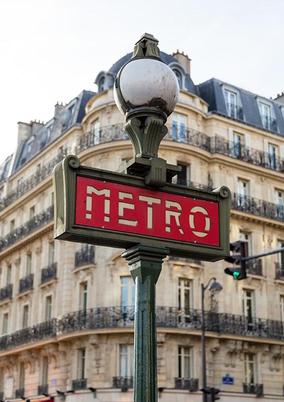 Panneau métro parisien