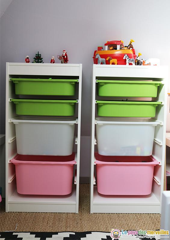 Meubles à cases pour ranger les Playmobil